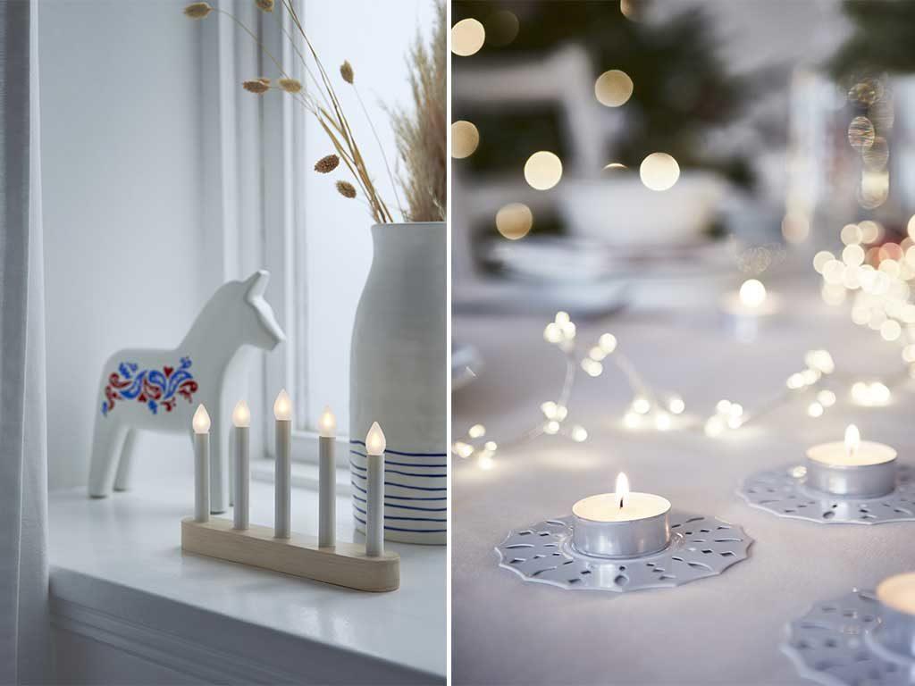 portacandeline e candelabro led