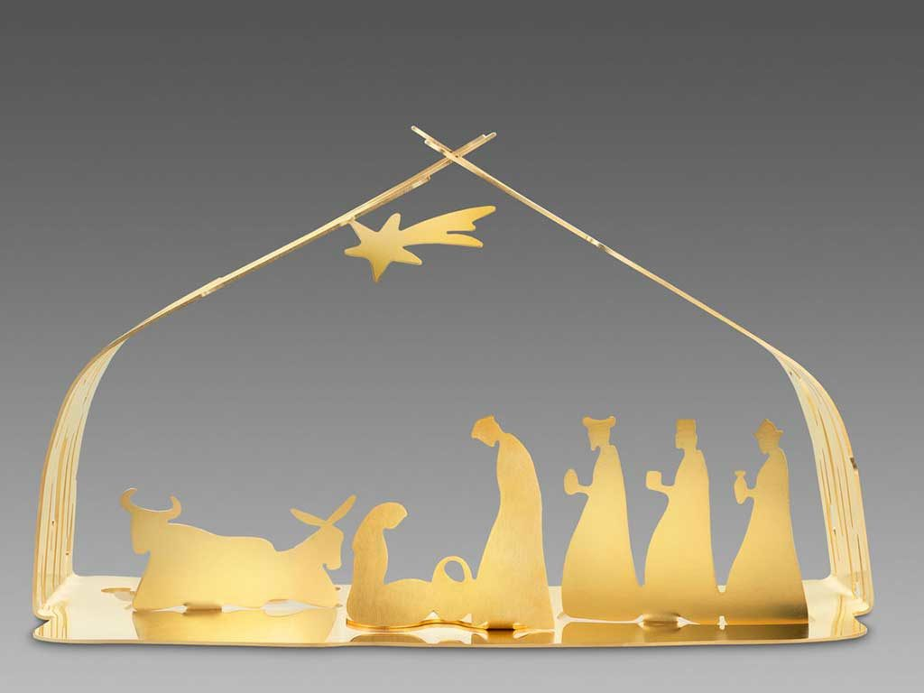 presepe natale oro stilizzato