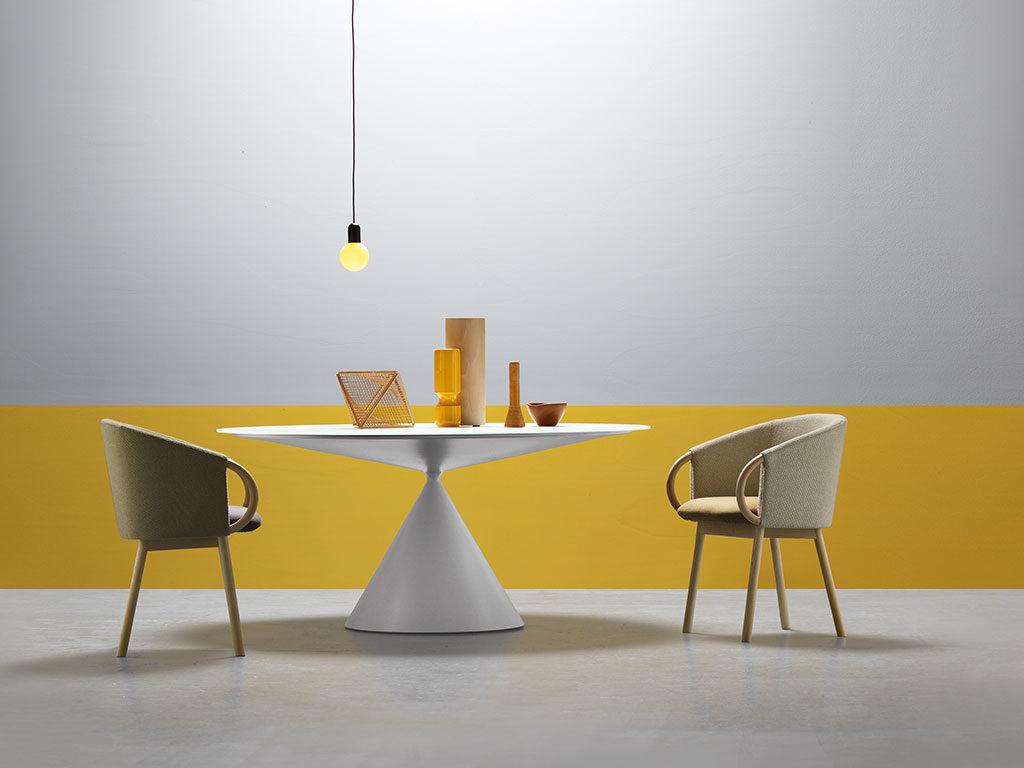 sedie legno rivestite tessuto design