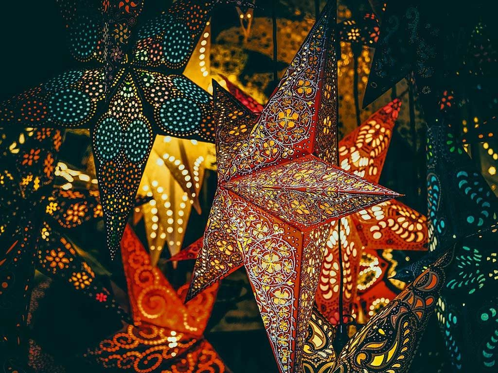 stella natale luminosa
