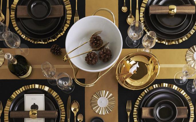 tavola di natale oro