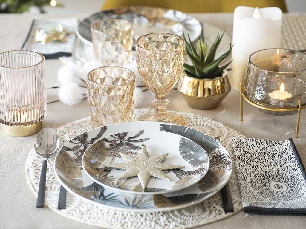 tavola natale tessuto jungle