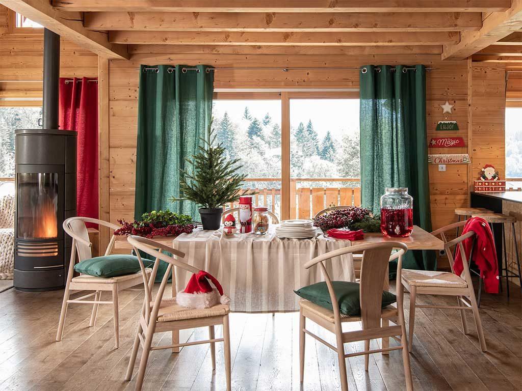 tavola natale minimal baita legno