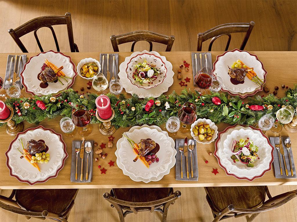 tavola piatti natale