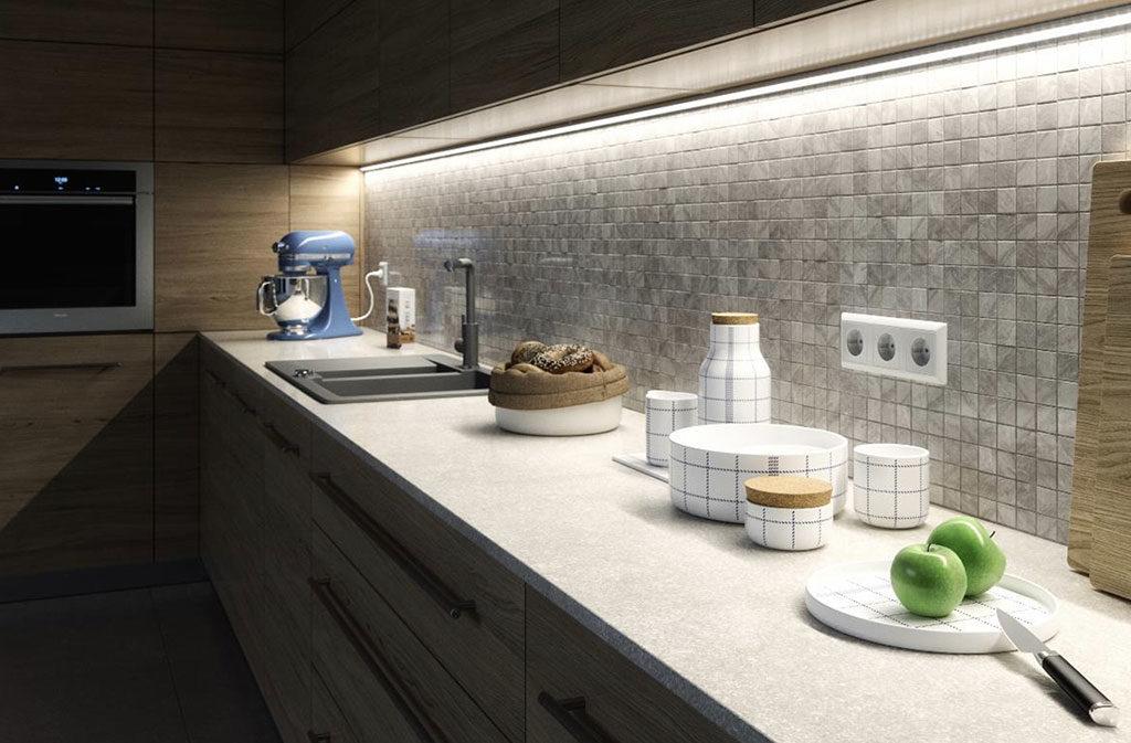 barre led illuminazione top cucina