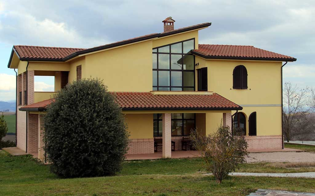 casa prefabbricata cemento e mattoni