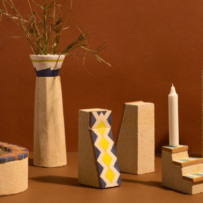 oggetti arredo tufo e ceramica design