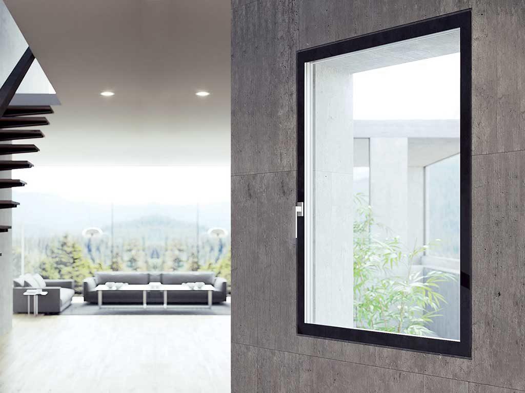 finestra alluminio e legno