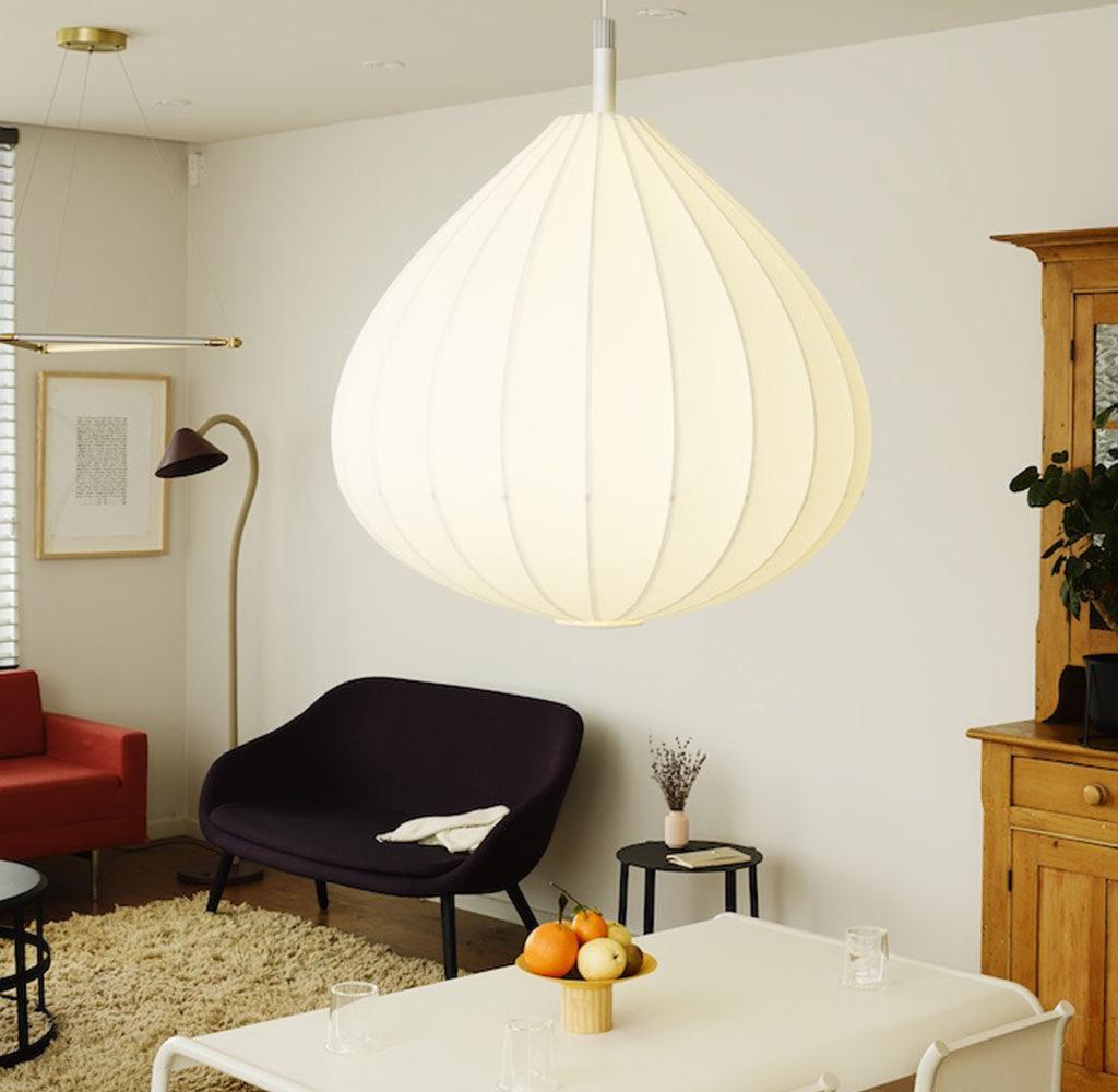 lampada sospensione design bianco
