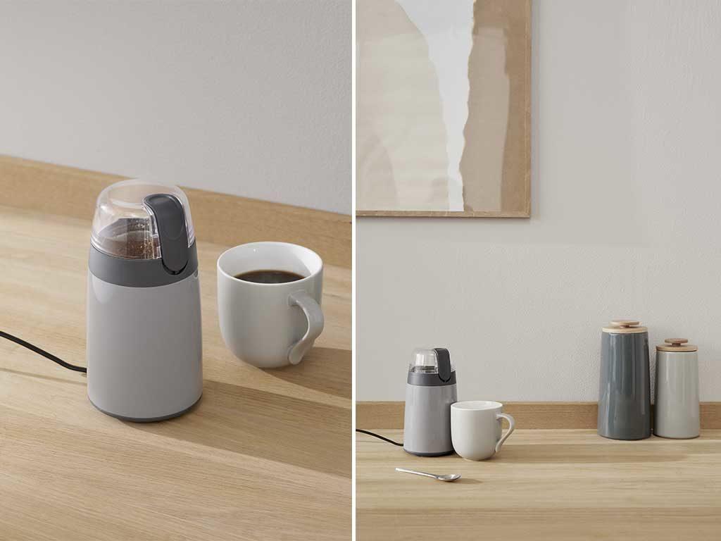 macinacaffe elettrico piccolo grigio