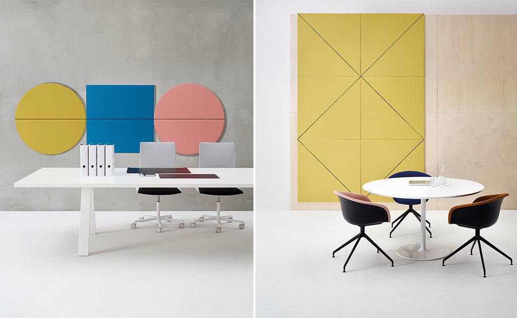 pannelli fonoassorbenti colorati parete
