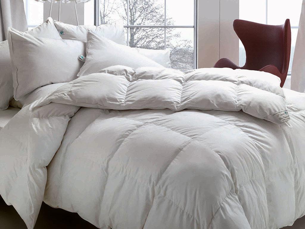 piumino letto e cuscini piuma