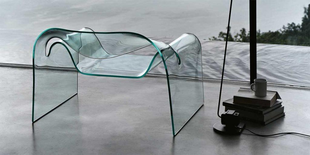 poltrona vetro design