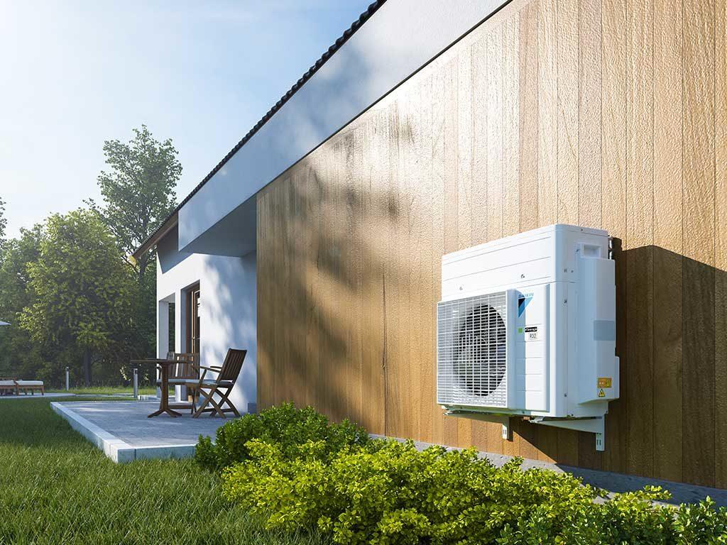 pompa calore esterno casa
