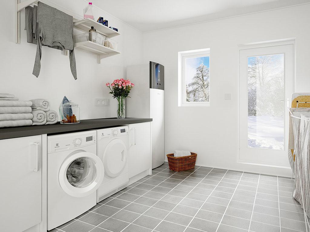 pompa calore locale lavanderia