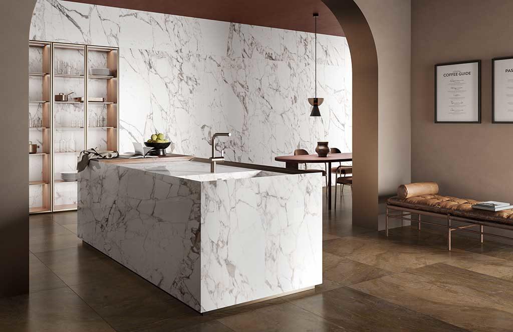 gres effetto marmo bianco