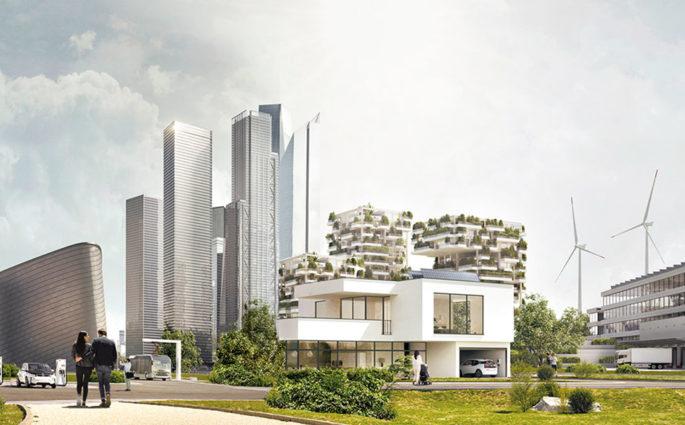 skyline citta energie rinnovabili