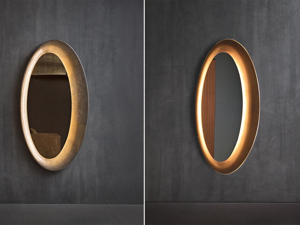 specchio ovale lungo design