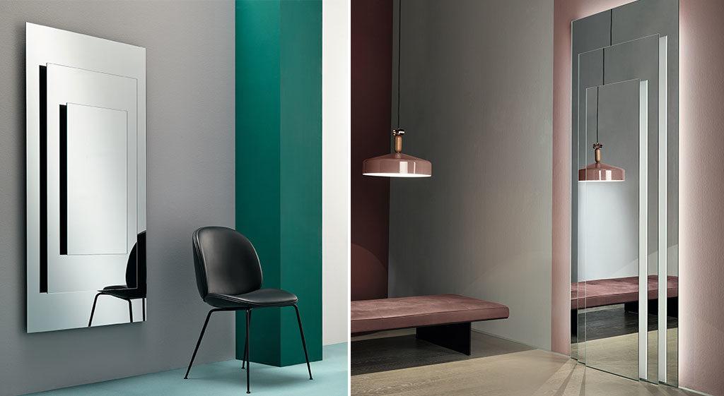 specchio parete e terra design