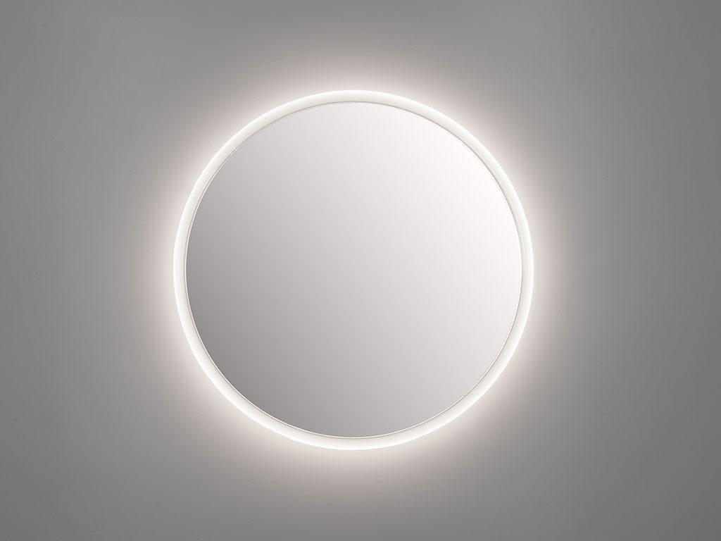 specchio tondo illuminato design