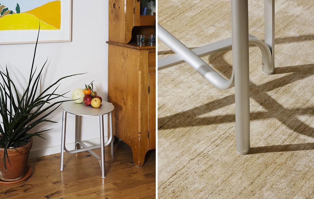 tavolinetto alluminio design