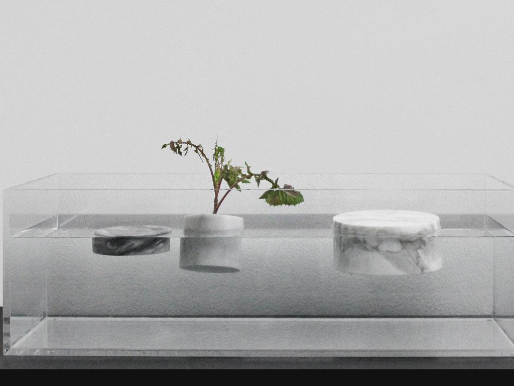 vasi galleggianti marmo