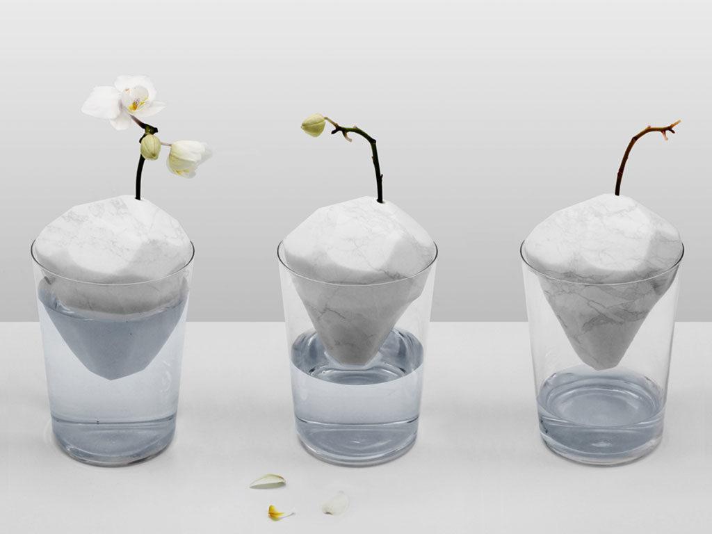 vasi iceberg marmo e vetro