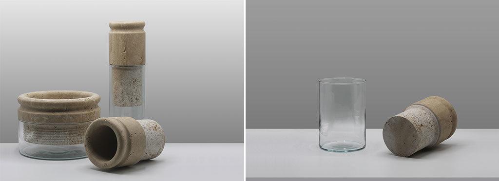 vasi sponge marmo