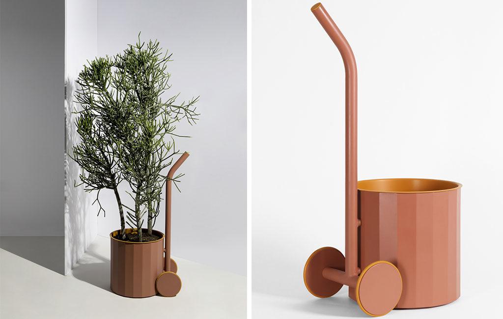 vaso pianta manico e ruote