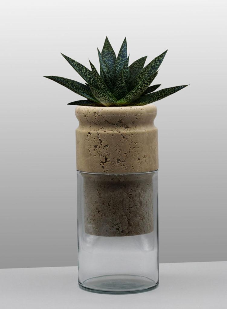 vaso pianta marmo osmosi