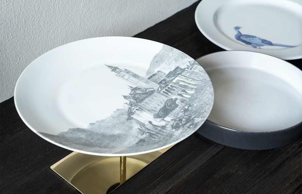 alzata piatto ceramica design