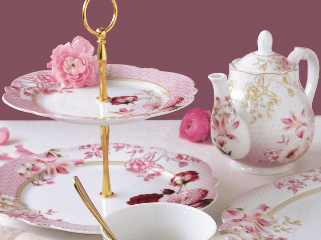 alzatina ceramica stile inglese