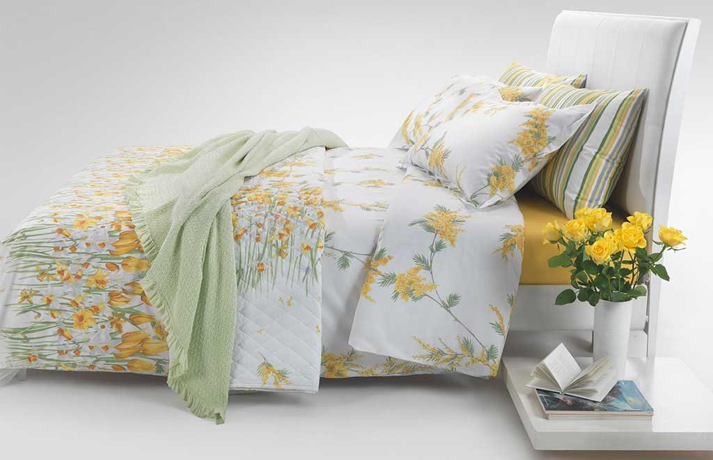 biancheria letto mimosa