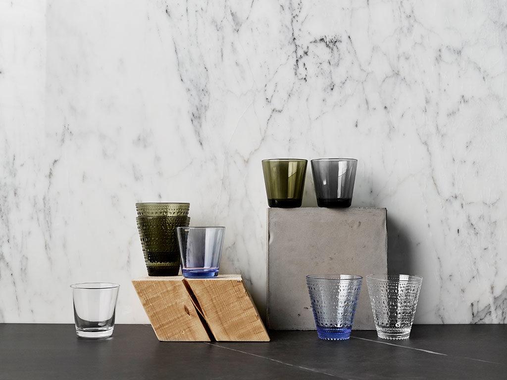 bicchieri vetro colorato acidato design