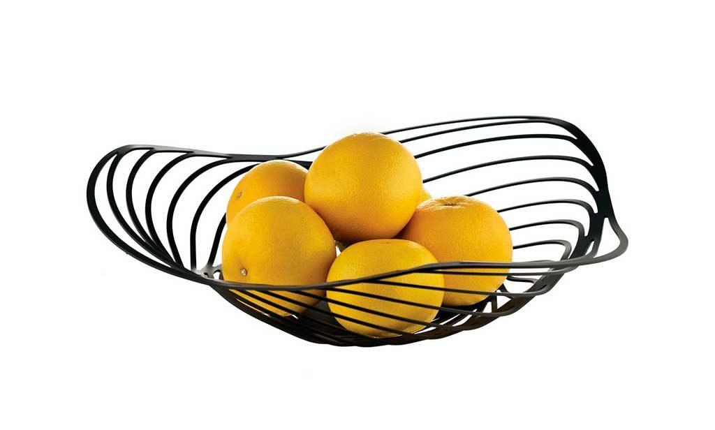 centrotavola portafrutta nero