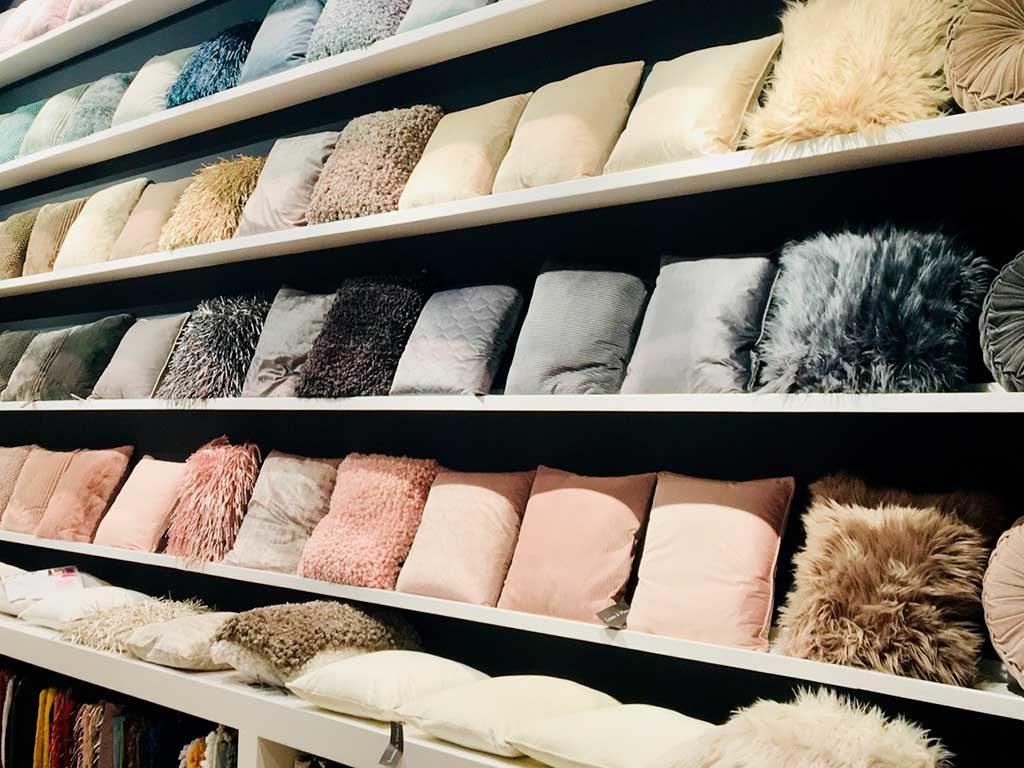 cuscini decorativi tessuto pastello