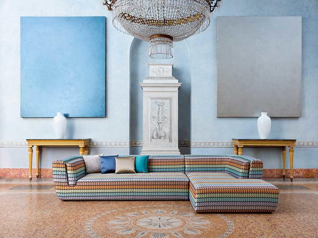 divano angolare grande multicolor
