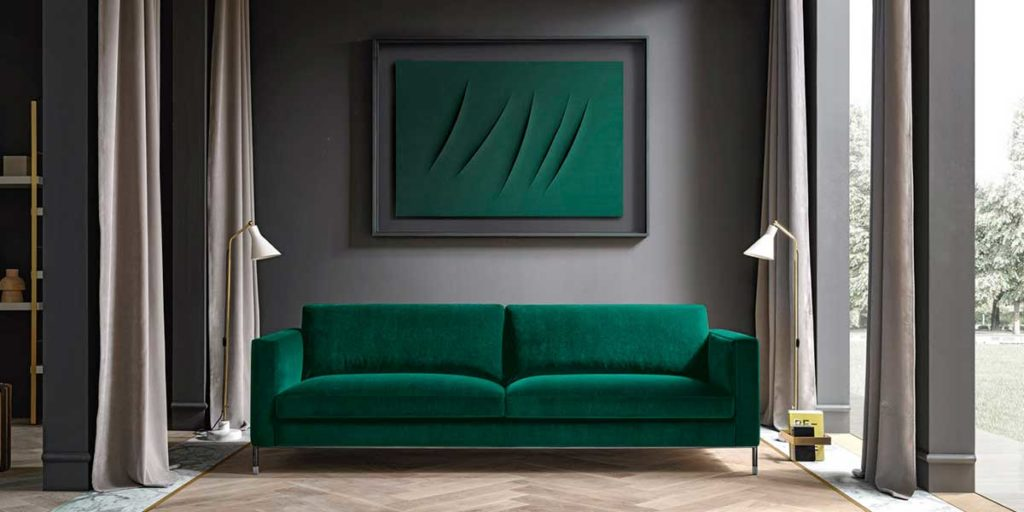 divano velluto verde