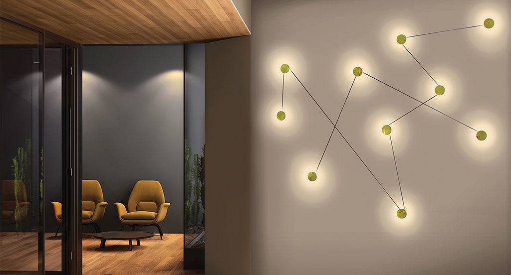 lampada modulare a parete