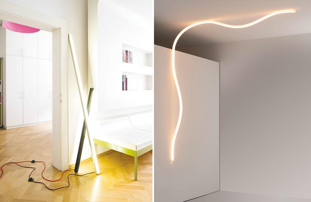 lampada terra e lampada parete