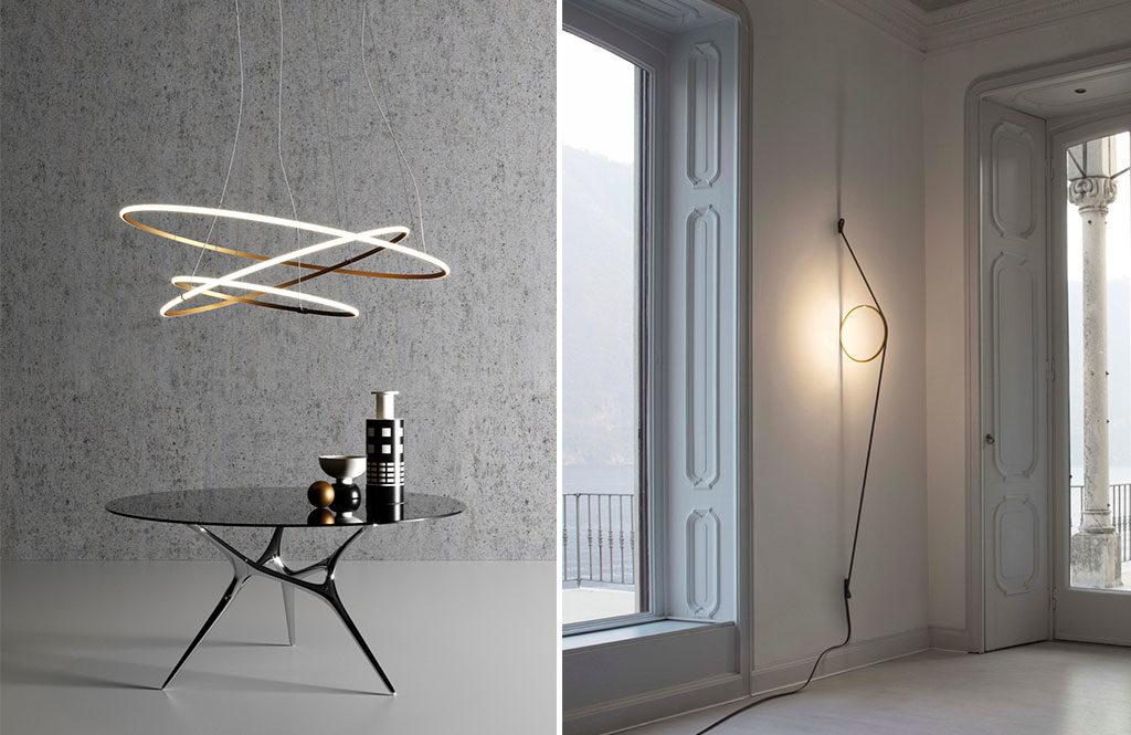 lampada sospesa e lampada parete design