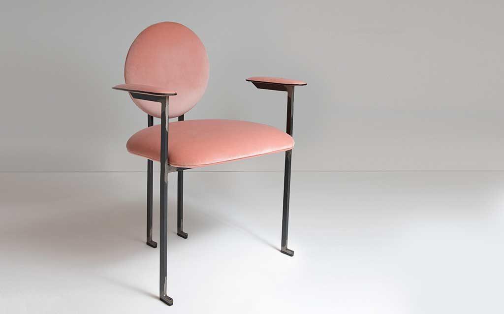 sedia design rosa