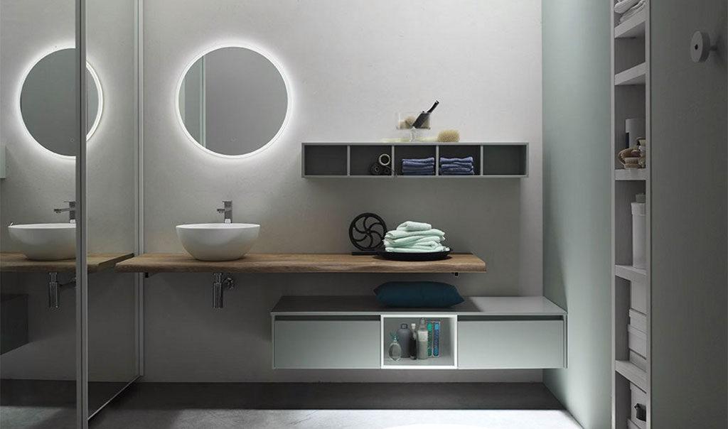 specchio tondo bagno illuminato