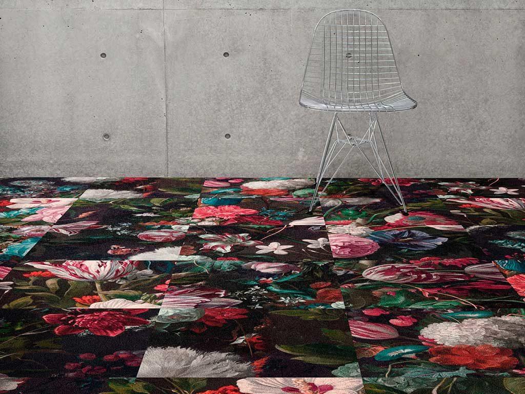 tappeto interni decoro floreale