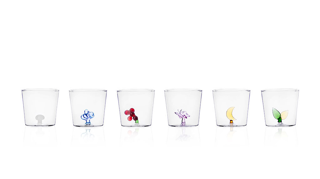 bicchieri bassi decoro vetro interno