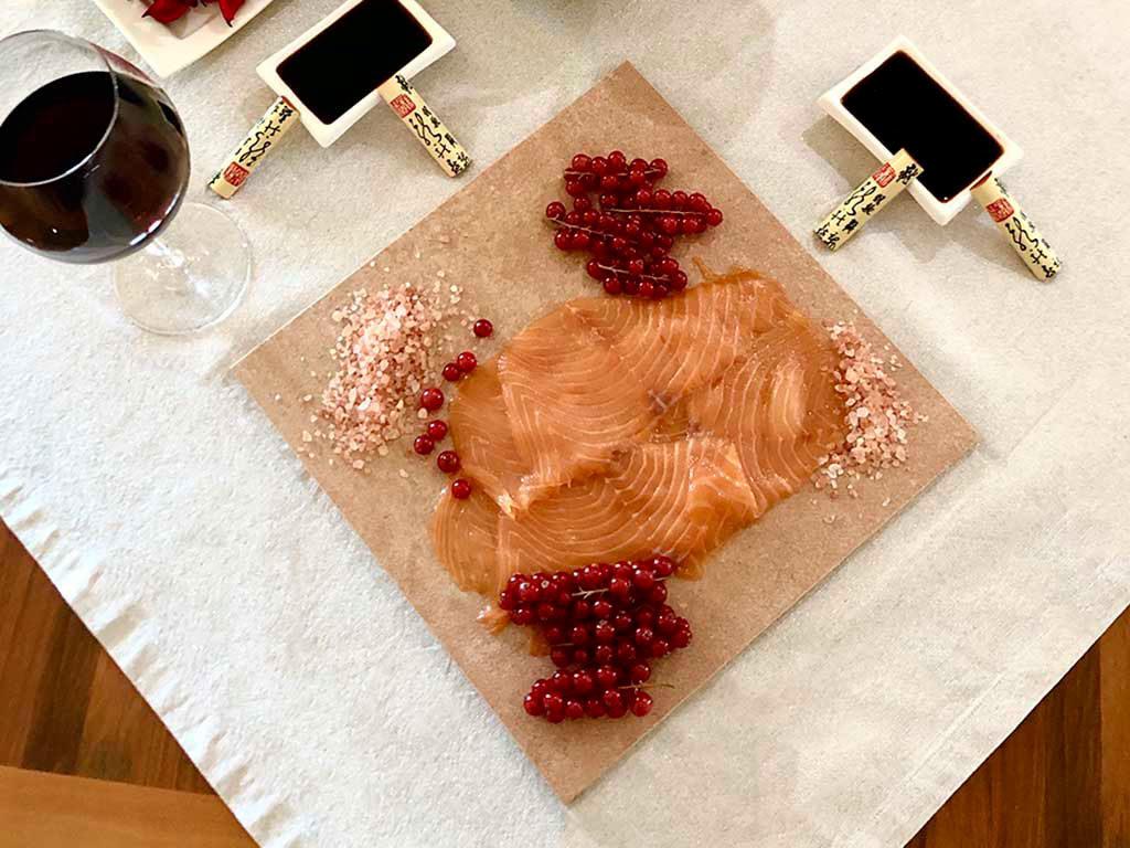 carpaccio salmone al sale himalaya