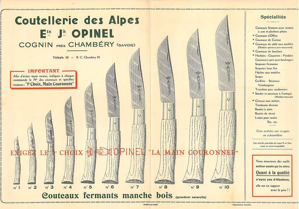 manifesto prima serie coltelli opinel