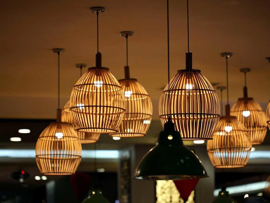 lampade sospensione bambu