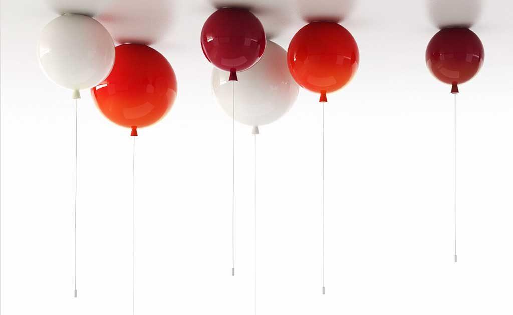 lampade sospensione palloncini rossi