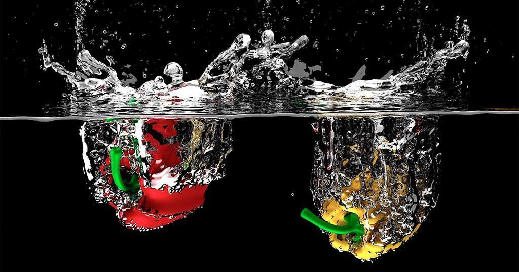 peperoni immersi acqua